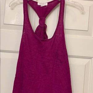 Forever 21 size small purple tank bow back